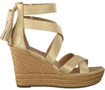 gold UGG shoe Raquel Metallic