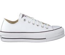Converse Sneaker Low Chuck Taylor As Lift Clean Ox Weiß Damen