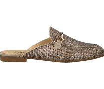 Goldfarbene Gabor Loafer 510
