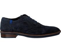 Blaue Floris Van Bommel Business Schuhe 19048