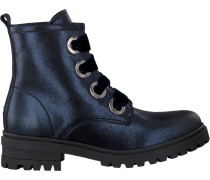 Blaue Schnürboots Metallic Cleated Lace UP Boot