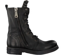 Schwarze Replay Biker Boots Rl260016L EVY