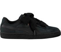 Schwarze Puma Sneaker Basket Heart Perf GUM WMN