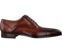 Cognacfarbene Magnanni Business Schuhe 20806