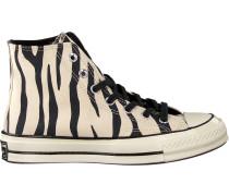 Taupe Sneaker Chuck 70 HI Greige/black/egre