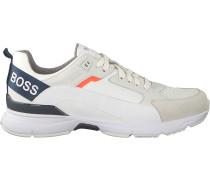 Weiße Boss Sneaker Low Velocity Runn