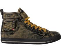 Schwarze Diesel Sneaker Magnete Exposure Stripe