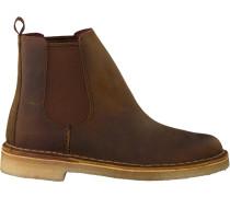 Braune Clarks Chelsea Boots Desert Peak