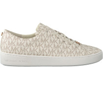 Weiße Michael Kors Sneaker Keaton Lace Up