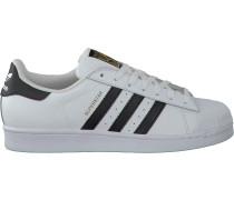 Weiße Adidas Sneaker Superstar Heren