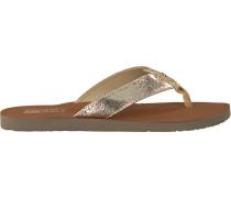 Goldfarbene Pantolette Glitter Beach Sandal