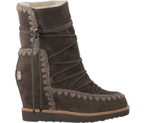 Braune MOU Winterstiefel French TOE Wedge Short