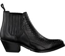 Schwarze Sendra Chelsea Boots Lia