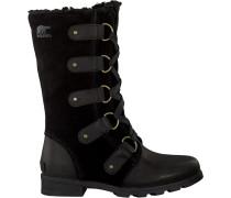Schwarze Sorel Ankle Boots Emilie Lace