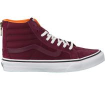 Rote Vans Sneaker Sk8-Hi Slim ZIP