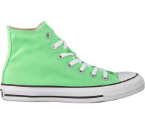 Grüne Converse Sneaker Chuck Taylor All Star Hi Dames