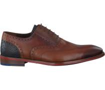 Cognacfarbene Business Schuhe 19062