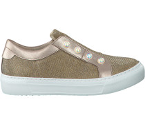Goldfarbene Gabor Slip-on Sneaker 311