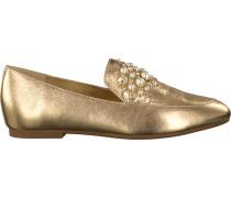 Goldfarbene Michael Kors Loafer GIA Loafer
