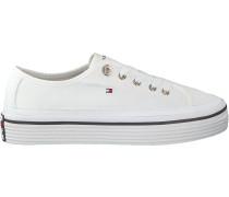 Tommy Hilfiger Sneaker Corporate Flatform Sneaker Weiß Damen
