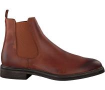 Cognacfarbene Goosecraft Chelsea Boots Chet Chelsea
