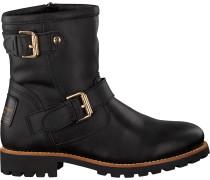 Schwarze Panama Jack Biker Boots Felina Igloo Travelling B3