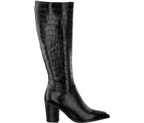 Notre-V Hohe Stiefel Ah183 Forma 802418 Fondo Tacco Schwarz Damen