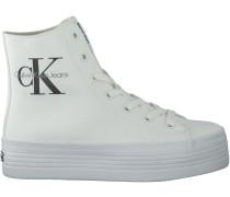 Weiße Calvin Klein Plateau Sneaker ZABRINA CANVAS