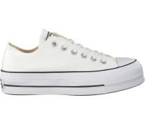 White Converse Shoe Chuck Taylor All Star Lift Weiß