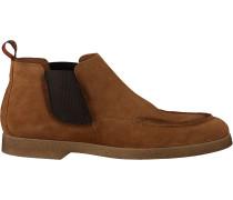 Cognacfarbene Greve Chelsea Boots Tufo