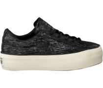 Schwarze Converse Sneaker ONE Star Platform OX