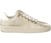 Goldfarbene Nubikk Sneaker Yeye Lizard Woman