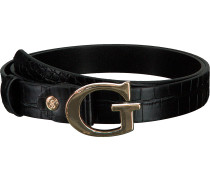 Schwarze Guess Gürtel Maddy Adjustable Belt