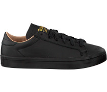 Schwarze Adidas Sneaker Court Vantage Dames