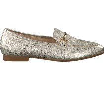 Goldfarbene Gabor Loafer 260.1