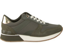 green shoe Mixed Material Lifestyle Sneak