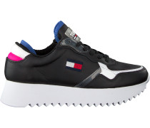 Schwarze Tommy Hilfiger Sneaker Low High Cleated Tommy Jeans