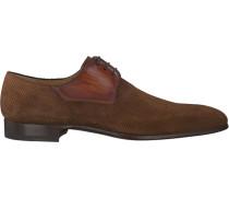 Cognacfarbene Magnanni Business Schuhe 19504