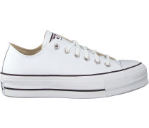 Weiße Converse Sneaker Low Chuck Taylor As Lift Clean Ox