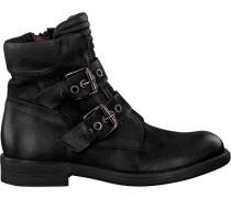 Schwarze Mjus Biker Boots 971242 Sole PAL
