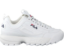 white Fila shoe Disruptor S LOW WMN