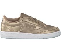 Goldfarbene Reebok Sneaker Club C 85 WMN