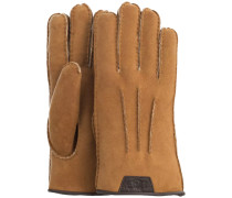 Cognacfarbene Handschuhe Casual Glove With Leather Logo