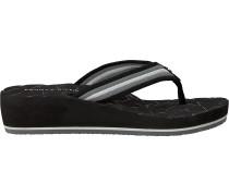 Schwarze Tommy Hilfiger Pantolette Comfort Mid Beach Sandal