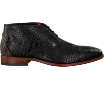 Schwarze Rehab Business Schuhe Greg Croco