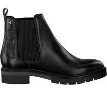 Schwarze Tommy Hilfiger Chelsea Boots Metallic Leather Chelsea Boot