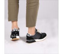 Black shoe Mixed Material Lifestyle Sneak