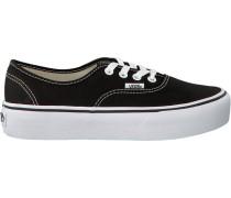 Schwarze Vans Sneaker Authentic Platform WMN