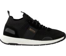 Schwarze Boss Sneaker Low Titanium Runn Knst