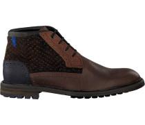 Cognacfarbene Floris Van Bommel Ankle Boots 10978